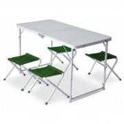 Set Pinguin Furniture (stůl + 4 židle) zelená