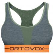 Sportovní podprsenka Ortovox 185 Rock'n'Wool Sport Top zelená greenforestblend