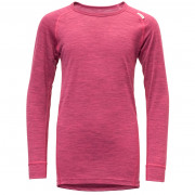 Dětské triko Devold Breeze Junior Shirt růžová Watermelon Melange