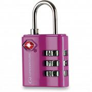Zámek Lifeventure TSA Combi Lock růžová Pink
