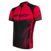 Pánský cyklistický dres Sensor Cyklo Team Up černá/červená černá/červená