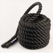 Posilovací lano Yate 12m x 3,8cm černá Černá
