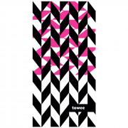 Rychleschnoucí ručník Towee Dynamica 50x100 cm růžová/černá Dynamica