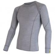 Pánské funkční triko Sensor Merino Wool Active dl.r. šedá šedá