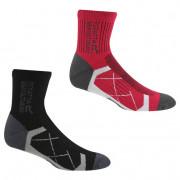 Жіночі шкарпетки Regatta Ladies 2pk Sock чорний/червоний
