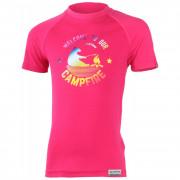 Dětské funkční triko Lasting Bear růžová růžová