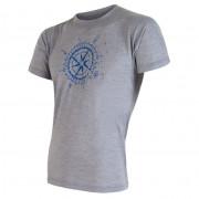 Pánské triko Sensor Merino Wool Active PT Kompas šedá šedá