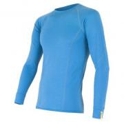Pánské funkční triko Sensor Merino Wool Active dl.r. světle modrá