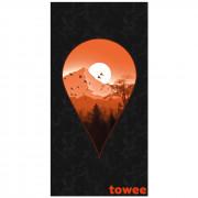 Rychleschnoucí osuška Towee Next Destination 80x160 cm černá/oranžová Next Destination