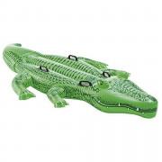 Надувний крокодил Intex Giant Gator RideOn 58562NP зелений