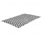 Piknikový koberec Bo-Camp Chill Mat Carpet XL Wave 3,5x2,7 černá/bílá