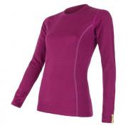 Dámské triko Sensor Merino Wool Active dl.r. lila lilla