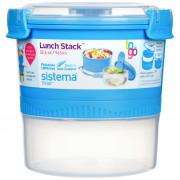 Box na potraviny Sistema Round Lunch Stack TO GO 965ml modrá