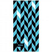 Rychleschnoucí ručník Towee Dynamic 50x100 cm modrá/černá Blue
