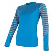 Жіноча функціональна футболка Sensor Merino Active довгий рукав блакитна