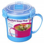 Hrnek Sistema Microwave Medium Soup Mug modrá