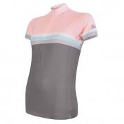Dámský cyklistický dres Sensor Cyklo Summer Stripe šedá/růžová šedá/růžová