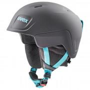 Dětská lyžařská přilba Uvex Manic Pro černá/modrá black-petrol mat