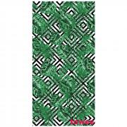 Rychleschnoucí osuška Towee Monstera 80x160 cm bílá/zelená Monstera