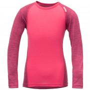 Dětské triko Devold Breeze Kid Shirt růžová Watermelon Melange