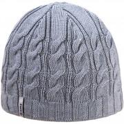 Pletená Merino čepice Kama A110 světle šedá light grey