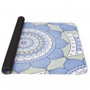 Килимок для йоги Yate Yoga Mat натуральний каучук синій/зелений
