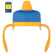 Měkké pítko Thermos pro kojeneckou termosku Foogo modrá/žlutá