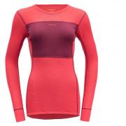 Жіноча функціональна футболка Devold Wool Mesh Woman Shirt малиновий