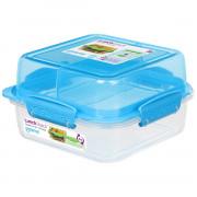 Box na potraviny Sistema Square Lunch Stack TO GO 1,24l modrá