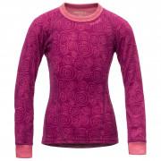 Dětské funkční triko Devold Active Kid Shirt růžová plum