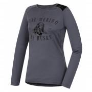 Dámské funkční triko Husky Merino 100 dl. rukáv Puppy šedá šedá