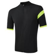 Pánský cyklistický dres Sensor Cyklo Classic černá černá/reflex žlutá