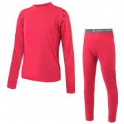 Dětské funkční prádlo Sensor Merino Air Set triko+spodky růžová magenta