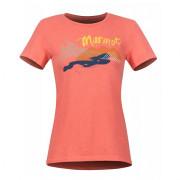 Dámské triko Marmot Wm's Esterel Tee SS červená Flamingo Heather