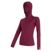 Dámské triko s kapucí Sensor Merino DF fialová lilla
