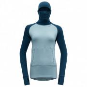 Жіноча функціональна футболка Devold Expedition Arctic Woman Hoodie синій/сірий