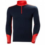 Чоловіча функціональна футболка Helly Hansen Lifa Merino Midweight 1/2 Zip синій/червоний