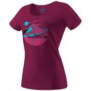 Жіноча футболка Dynafit Artist Series Co T-Shirt W бордовий