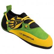 Dětské lezečky La Sportiva Stickit žlutá/zelená Lime/Yellow