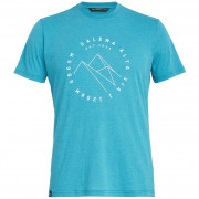 Pánské triko Salewa Alta Via Dri-Rel M S/S Tee světle modrá 8207 ocean melange