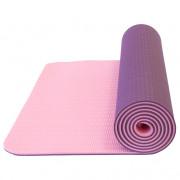 Podložka Yate Yoga Mat dvouvrstvá TPE tmavě fialová/růžová