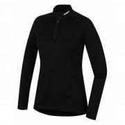 Dámské funkční triko Husky Merino zip, dl.rukáv černá černá černá