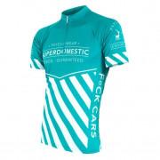 Pánský cyklistický dres Sensor Superdomestic světle modrá mint