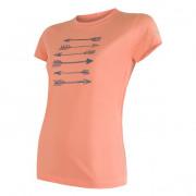 Dámské funkční triko Sensor Coolmax Fresh Šípy kr.r. oranžová apricot