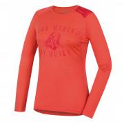 Dámské funkční triko Husky Merino 100 dl. rukáv Puppy růžová Broskvová