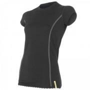 Dámské triko Sensor Merino Wool Active kr.r. černá černá