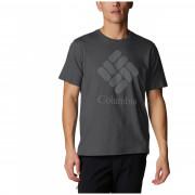 Чоловіча футболка Columbia Columbia Trek™ Logo Short Sleeve чорний