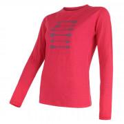 Dámské triko Sensor Merino Wool PT Šípy dl.r. růžová magenta