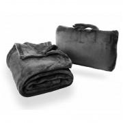 Cestovní deka Cabeau Fold 'n Go Blanket černá Charcoal