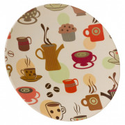 Talíř Vango Bamboo Dinner Plate béžová Coffee Cup Print